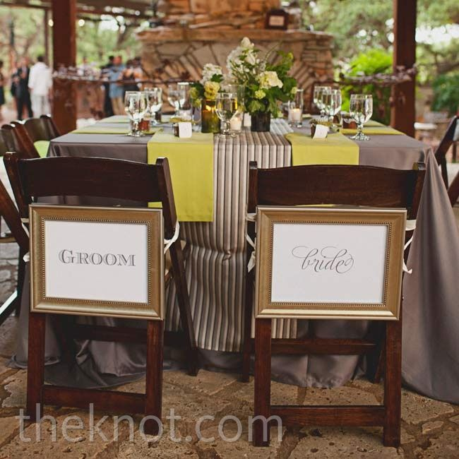 Reception Chair Signs Eclectic Images Www Theknot Com Wedding Website Free Wedding Chair Decorations Reception Chair