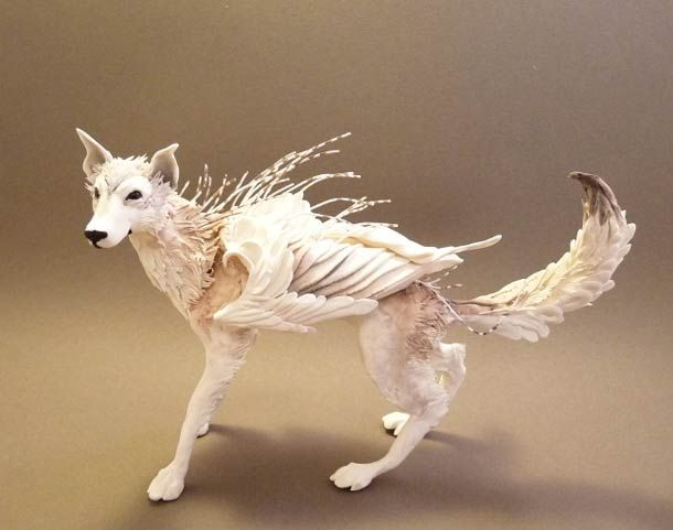 Surreal Animal Sculptures Blend Fantasy And Reality Animal - Surreal animal plant sculptures ellen jewett