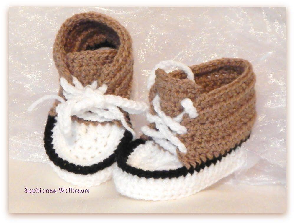 gehäkelte Babyschuhe, crochet baby booties, Flip-Flops,Sneakers ...