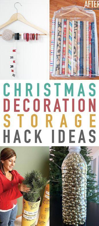 Christmas Decoration Storage Hack Ideas Storage hacks and Decoration