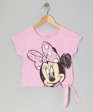 Take a look at this Pink Classic Minnie Tee - Girls by Minnie's Bow-Tique on #zulily today!