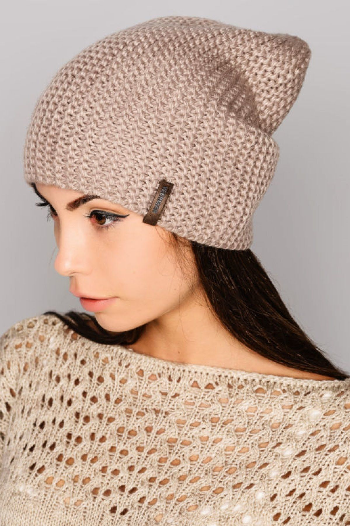 ♥Шапка бини♥Простая женская шапка+мастер класс+полное ...