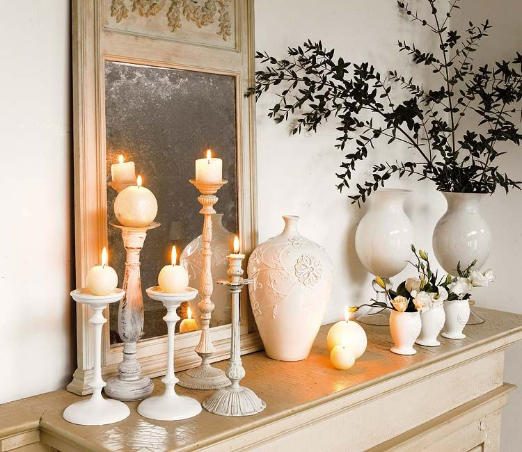 how to decorate a fireplace mantel candles