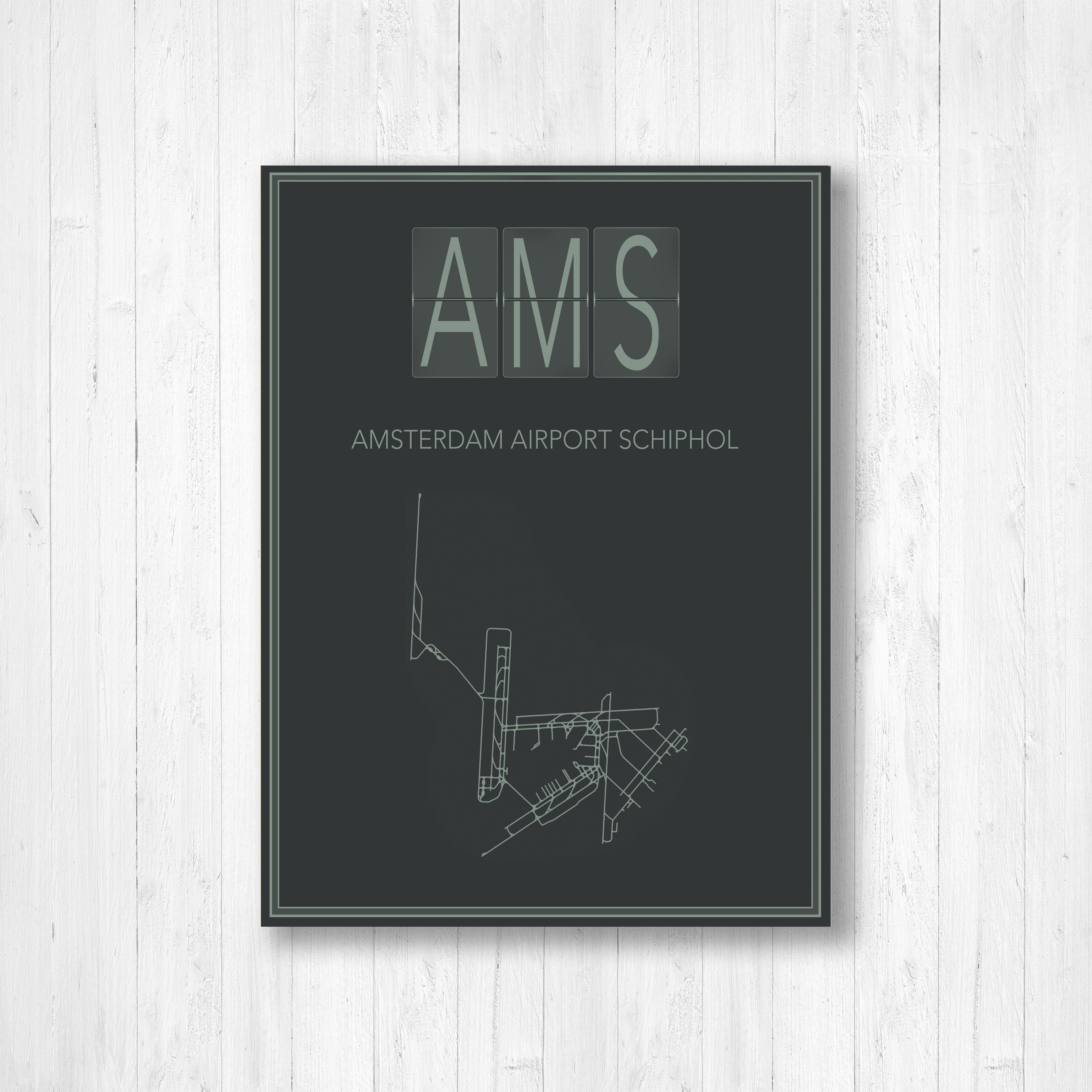 Amsterdam Airport Schiphol Map Print Amsterdam Airport Schiphol