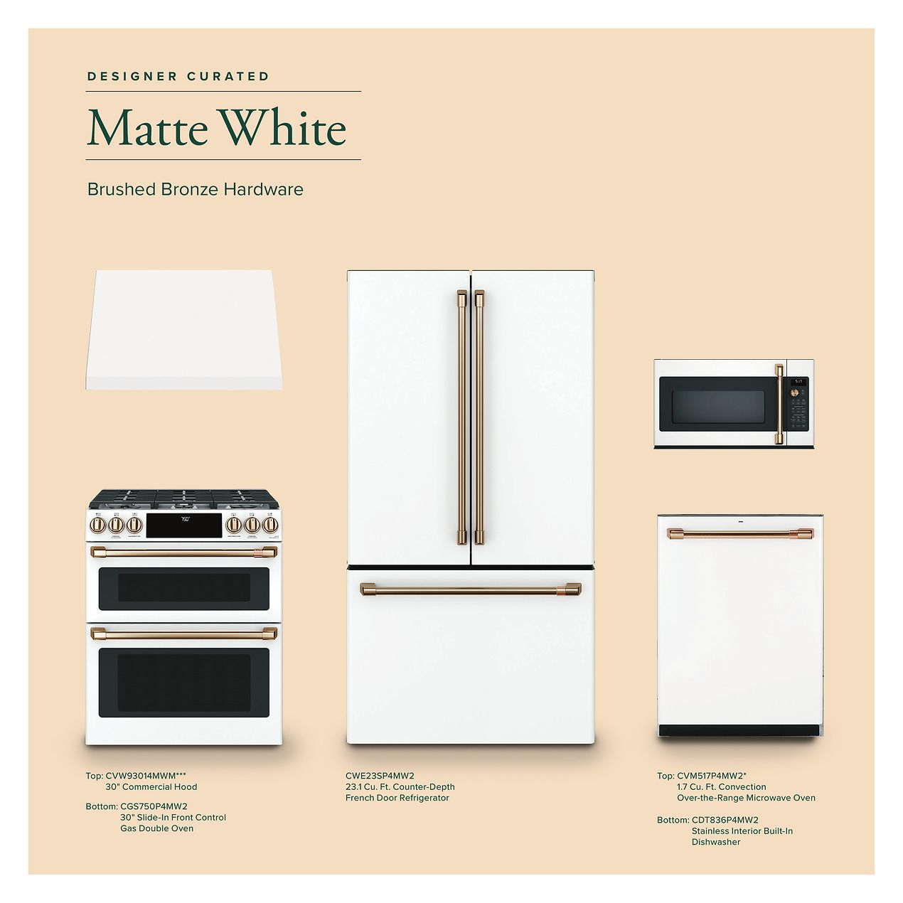 Ge Cafe Lookbook Catalog Page 32 White Kitchen Appliances Ge Cafe Appliances Kitchen Appliances