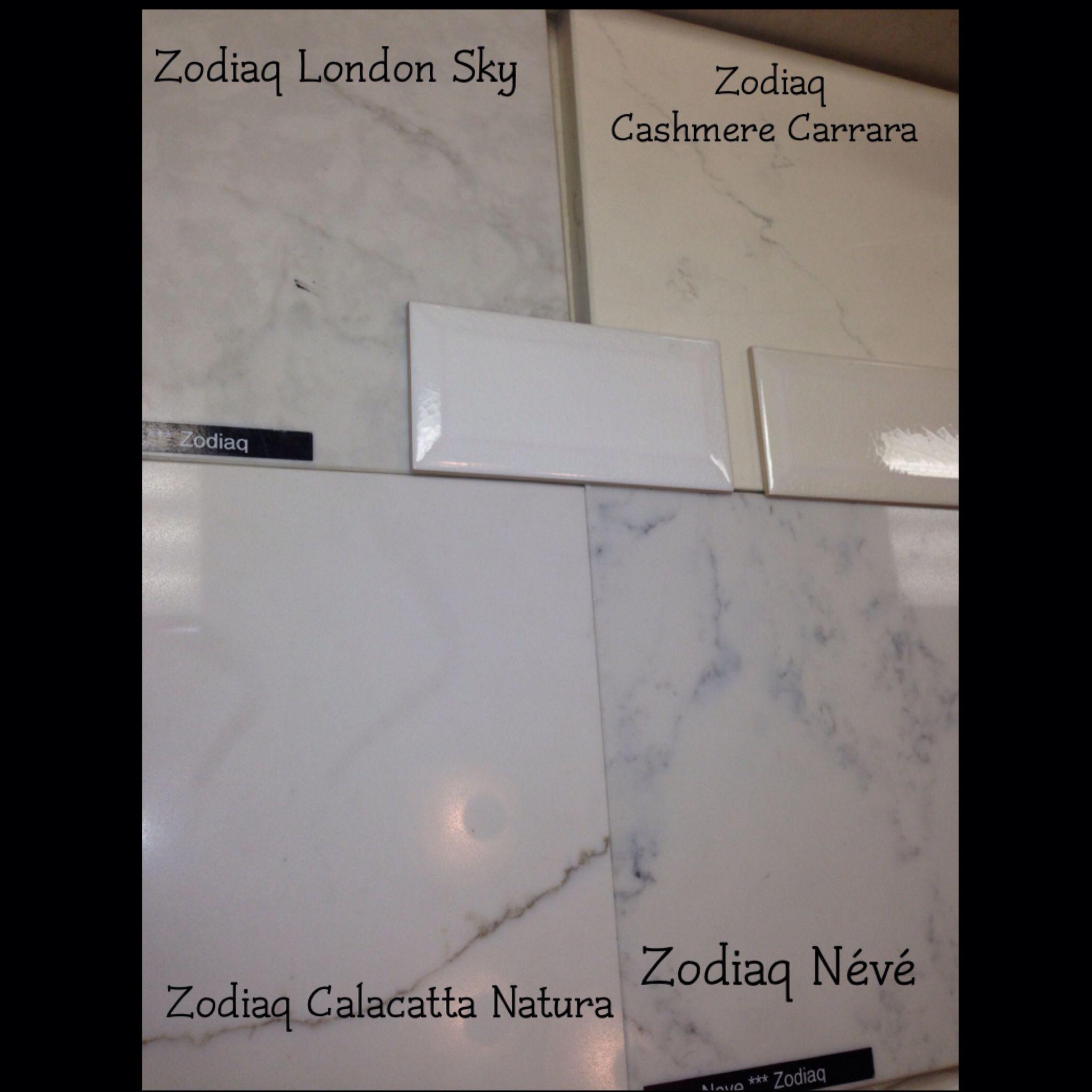 Duponts zodiaq quartz coutertop samples london sky cashmere carrara calacatta natura névé