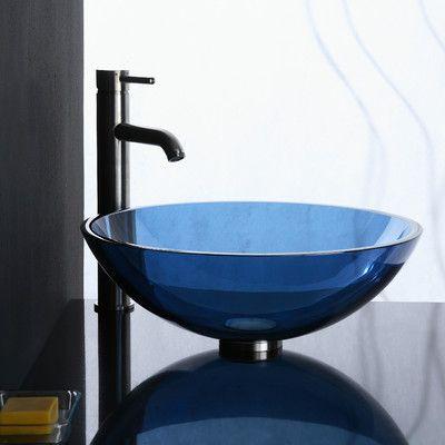 Ryvyr Glass Vessel Bathroom Sink & Reviews | Wayfair