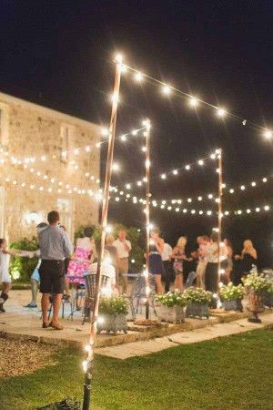 Garden String Lights Entrancing Patiooutdoorstringlightswoohome17  Mom's Birthday Party