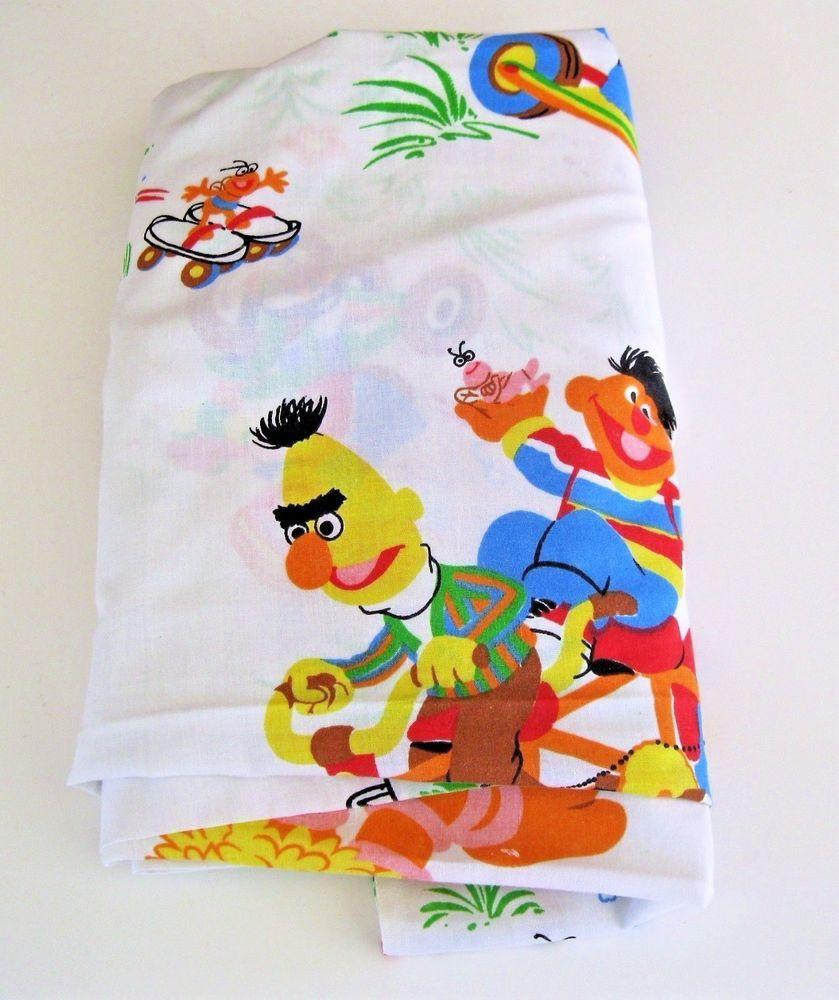 Sesame Street Vintage Twin Flat Sheet Bert Ernie Big Bird
