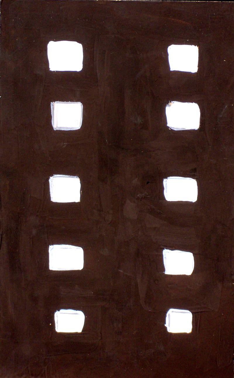 PINTURA - Antonio Abril - Colección: EDIFICIOS - Titulo: Edificio 7 - Técnica: Tempera Mixta - Formato: 30 x 42 cm - Madera - ART MODERNE ET CONTEMPORAIN.