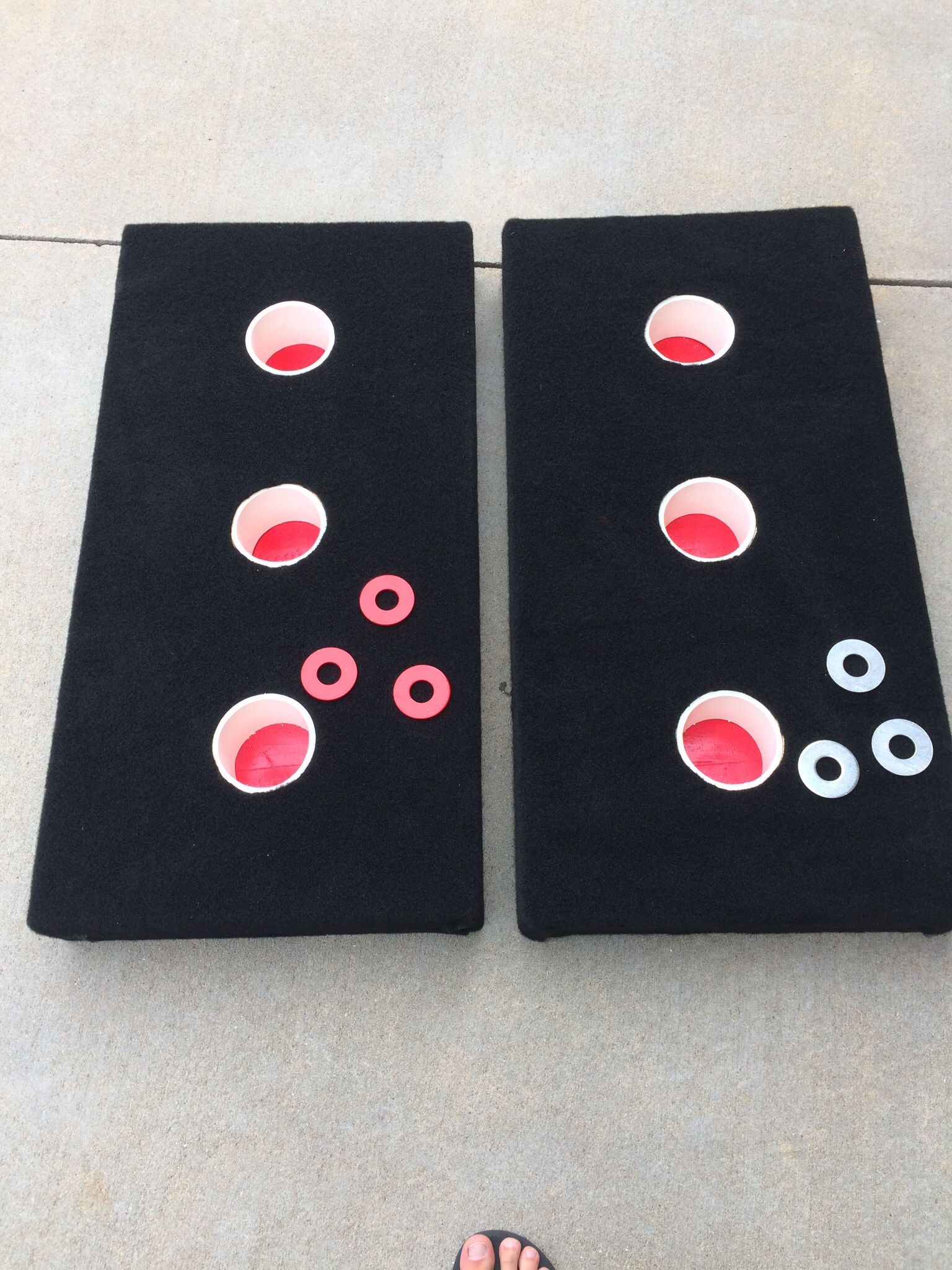 3 hole washer game aka fat penny for the husker fans my