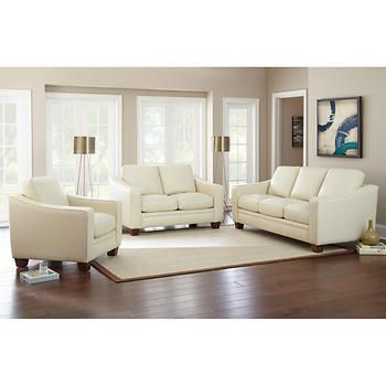 ravishing costco living room sets. Room Mansell 3 piece Top Grain Leather Set  living room Pinterest