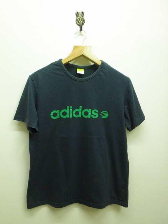 Vintage Adidas Shirt Big Spell Out Streetwear Sportswear Adidas T Shirt Top Tees Size XL