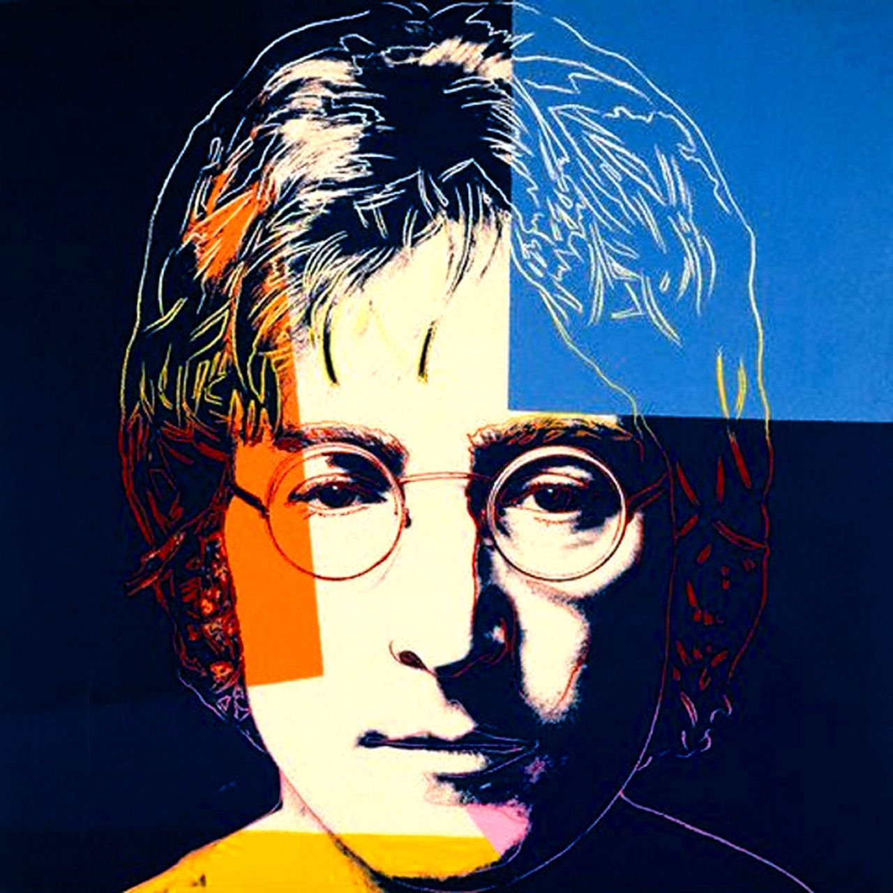 Navy Blue John, by Andy Warhol #andywarhol