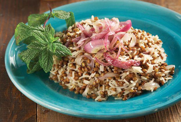 a beautiful plating (lentil pilaf)