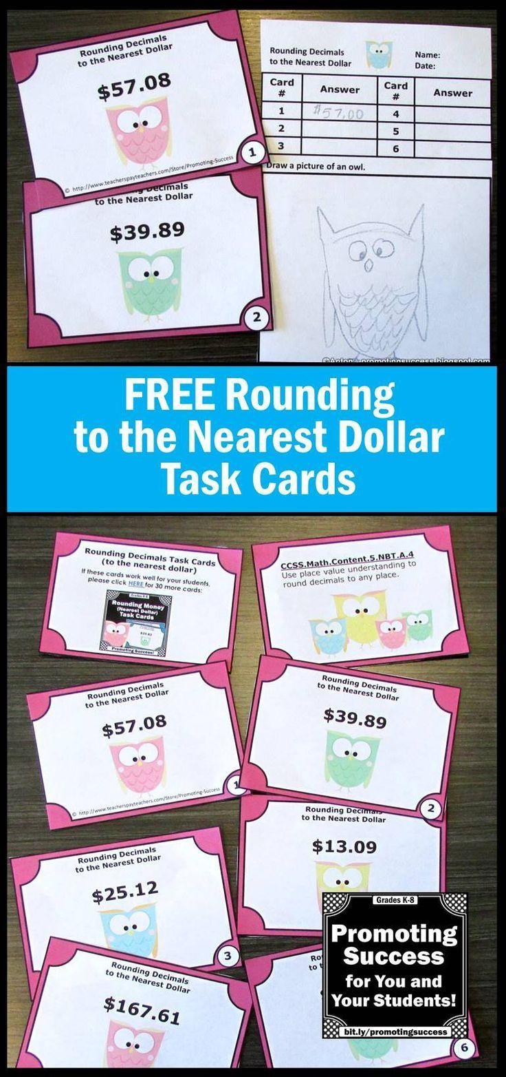 Rounding Money to the Nearest Dollar | money | Pinterest ...