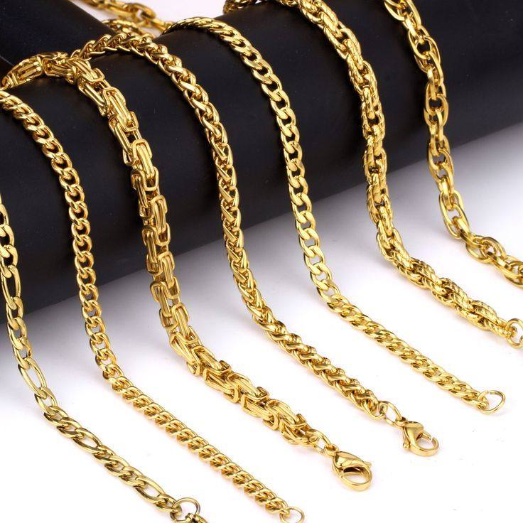 New 9mm 18k gold chain for men | 18k gold, Chains and Gold