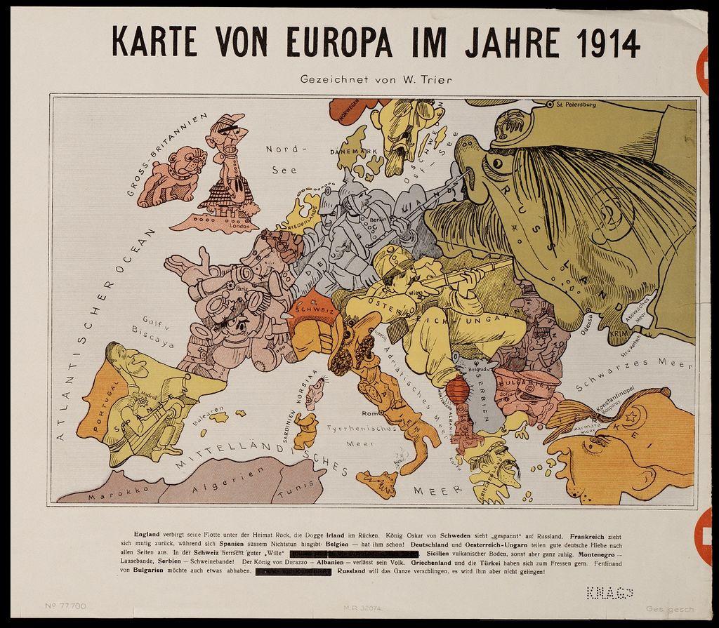 Carte Europe Ww1.Karte Von Europa Im Jahre 1914 Art 225 Map Making Map