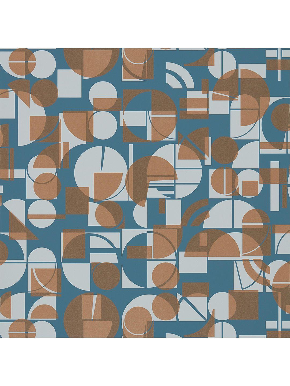Wallpaper Designer Blue /& Tan Harlequin