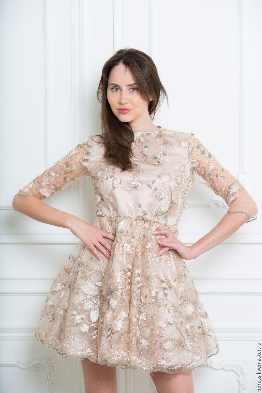 Вышивка бабочек на платье 72