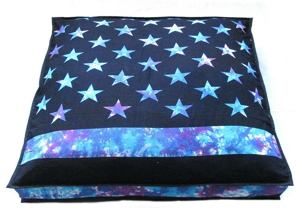 "New 35X35"" Square Cushion Cover Handmade Tie Dye Floor"