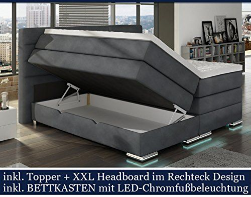 die besten 25 boxspringbett mit bettkasten 180x200 ideen. Black Bedroom Furniture Sets. Home Design Ideas