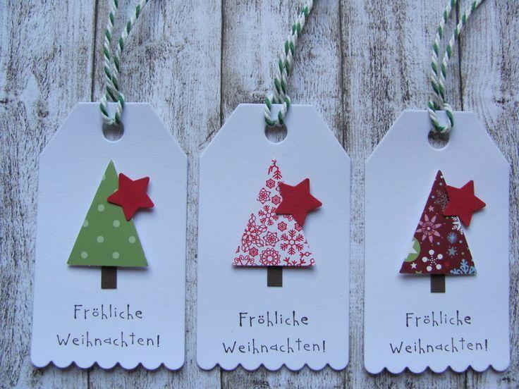 Geschenkanhänger Fröhliche Weihnachten von Mein Kartengarten auf DaWanda.com #handabdruckweihnachten