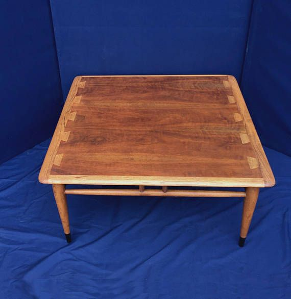 Vintage Lane Acclaim Square Tail Coffee Table Mid Century Modern Two Tone Dove