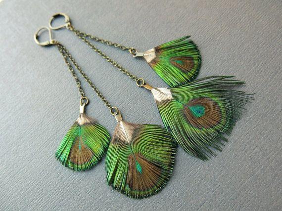 Hey, j'ai trouvé ce super article sur Etsy, chez https://www.etsy.com/fr/listing/255257984/peacock-feather-boucles-doreilles