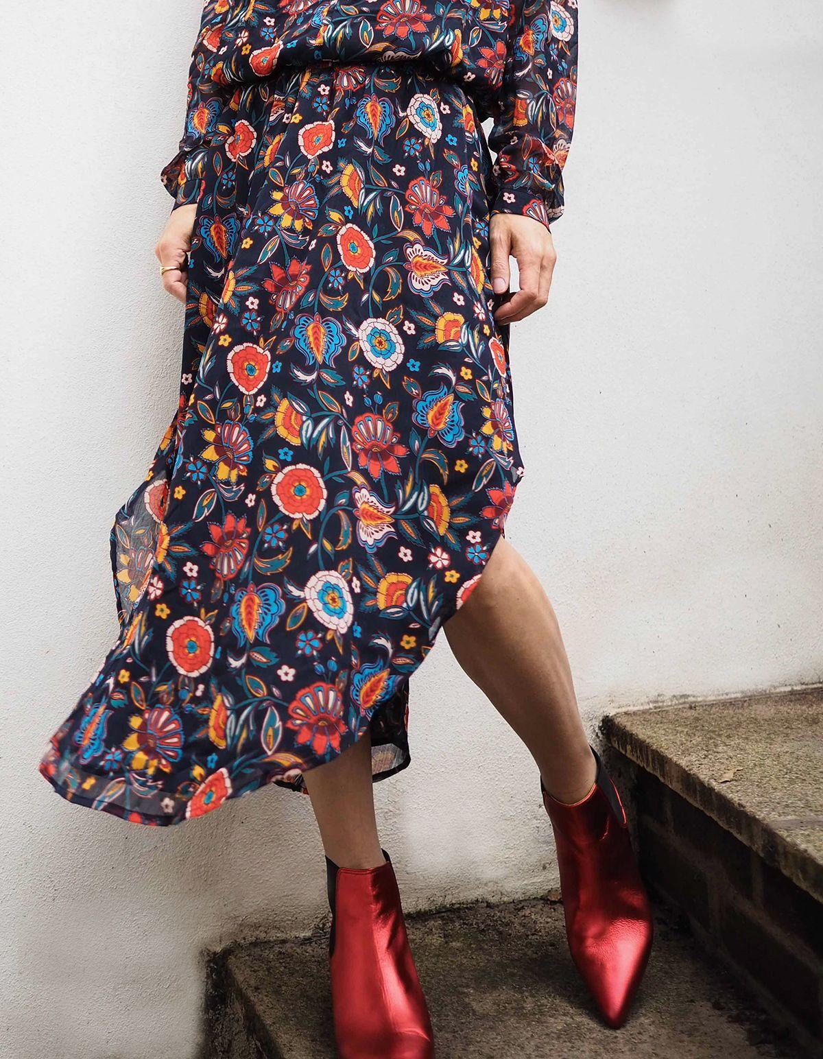 12db63e44f90 Stylonylon Edit | Hush Homewear AW18 | Floral dress & red boots ...