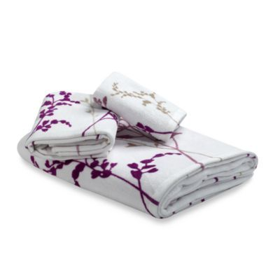 Reflections Purple Bath Towels Cotton BedBathandBeyondcom - Purple bath towels for small bathroom ideas
