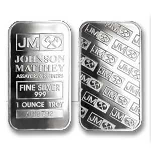 1 Oz Silver Bar Johnson Matthey Silver Bullion Silver Bars Silver