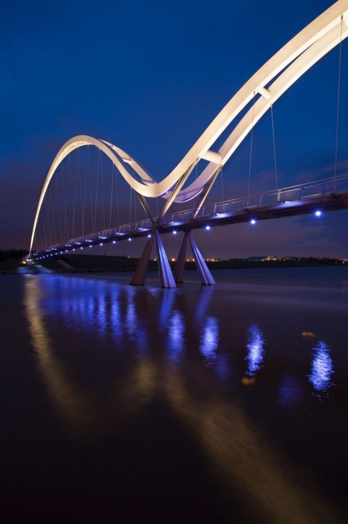 Awesome Architecture » Infinity Bridge Lighting by Speirs and Major Associates