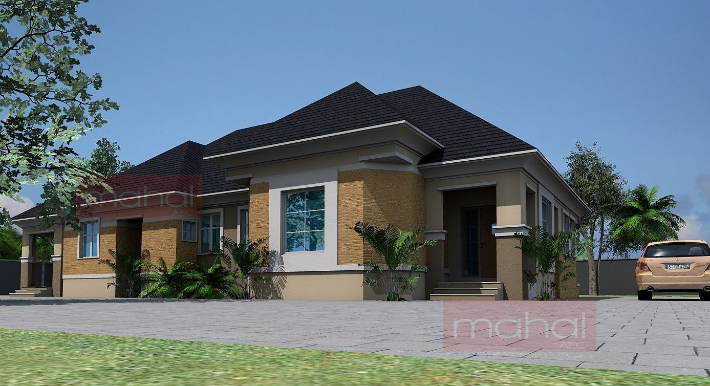 4 Bedroom Bungalow Design Interesting Contemporary Nigerian Residential Architecture 4 Bedroom Bungalow Inspiration Design