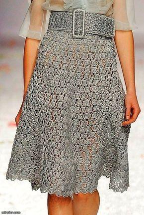 Crochet Skirt by Luisa Beccaria (with ruffle shirt) see http://charmdeparis.blogspot.com/2010/09/luisa-beccaria-supradoza-de-feminitate.html for the whole photo