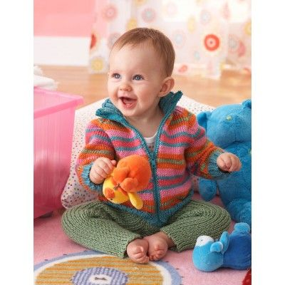 3e52b9c3f16c Free Easy Baby s Sweater Knit Pattern - Sweet striped jacket and ...