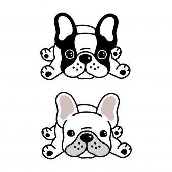 Photo of Perro bulldog francés mascota de dibujos animados