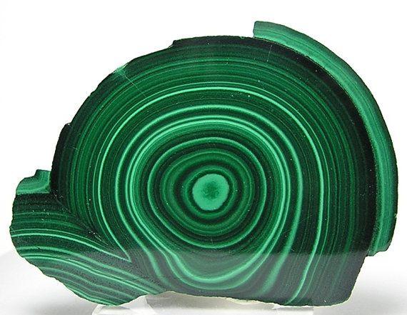 Bright and Dark Green Malachite Stalactite Stone by FenderMinerals