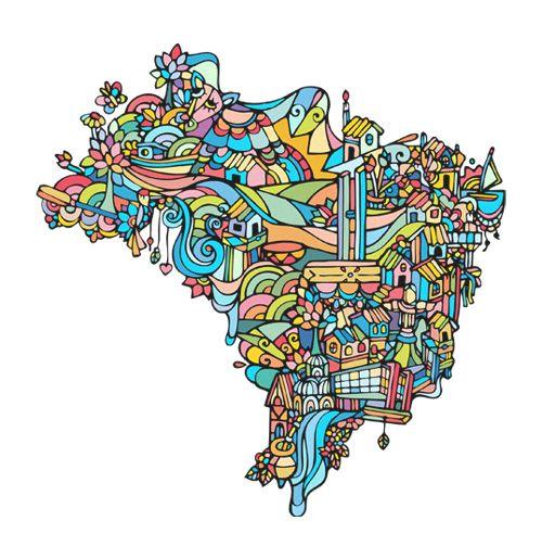 Mapa Brasil (com imagens) | Mapa brasil, Elementos gráficos ...