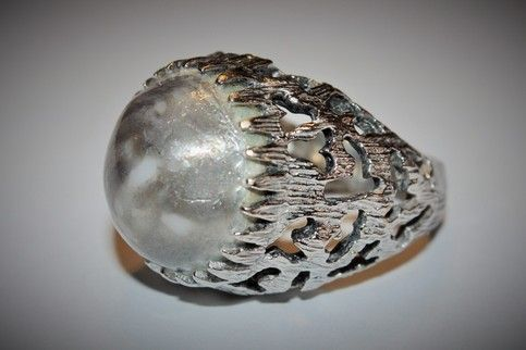 Unique Silver Toned Ring from Vintage Charm
