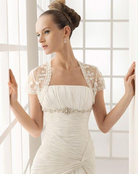 Torera para vestido de novia