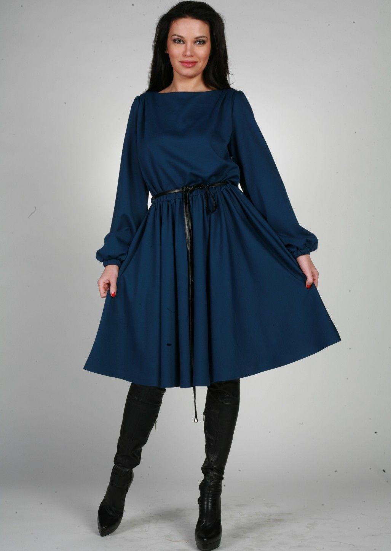 Выкройка отрезного по талии платья с юбкой полусолнце с рукавами фото 881