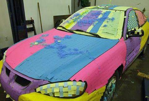 Funnycarprankcoveredinpostitnotescoolfun Humor Me - Cool fun cars