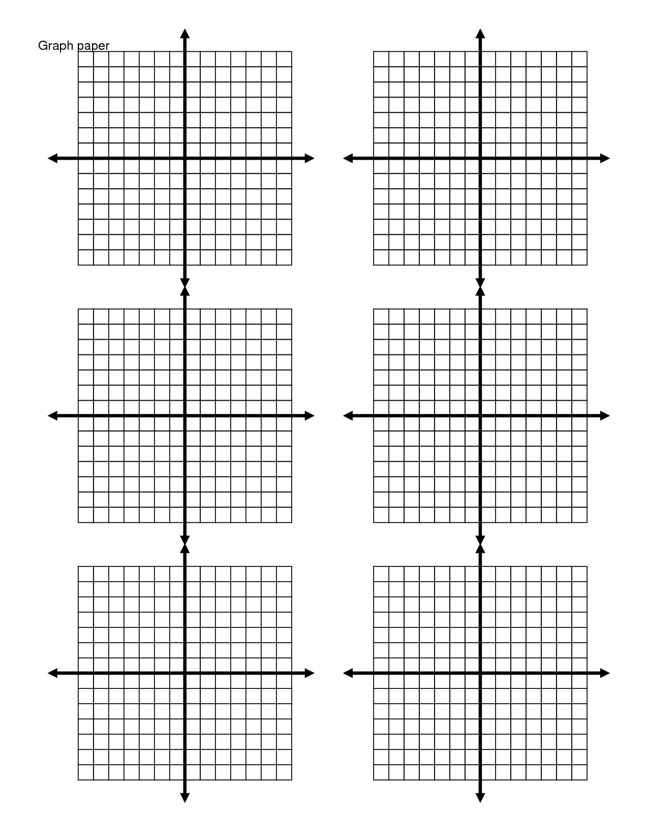 Printable Graph Paper 4 Graphs Per Page In