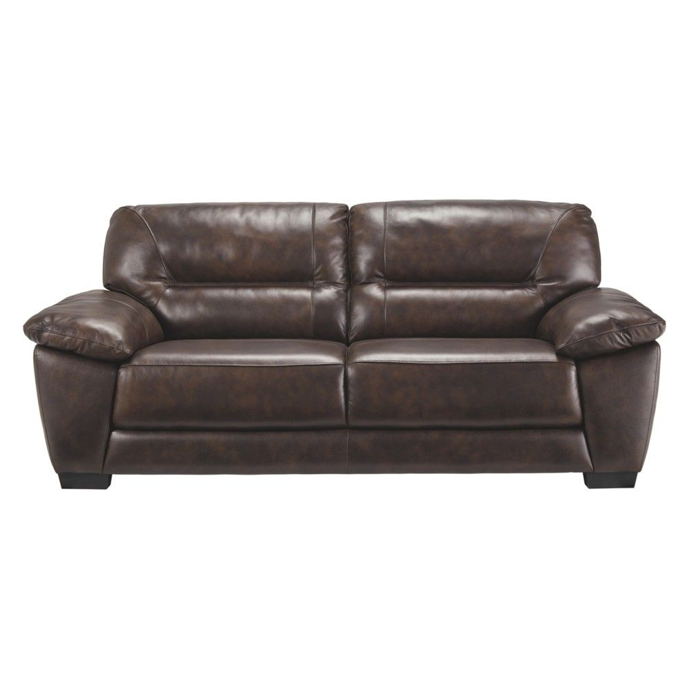Indulge In The Pleasure Of Real Leather At A Price Sure To Entice With This Sumpt Contemporary Leather Sofa Ashley Furniture Living Room Ashley Furniture Sofas