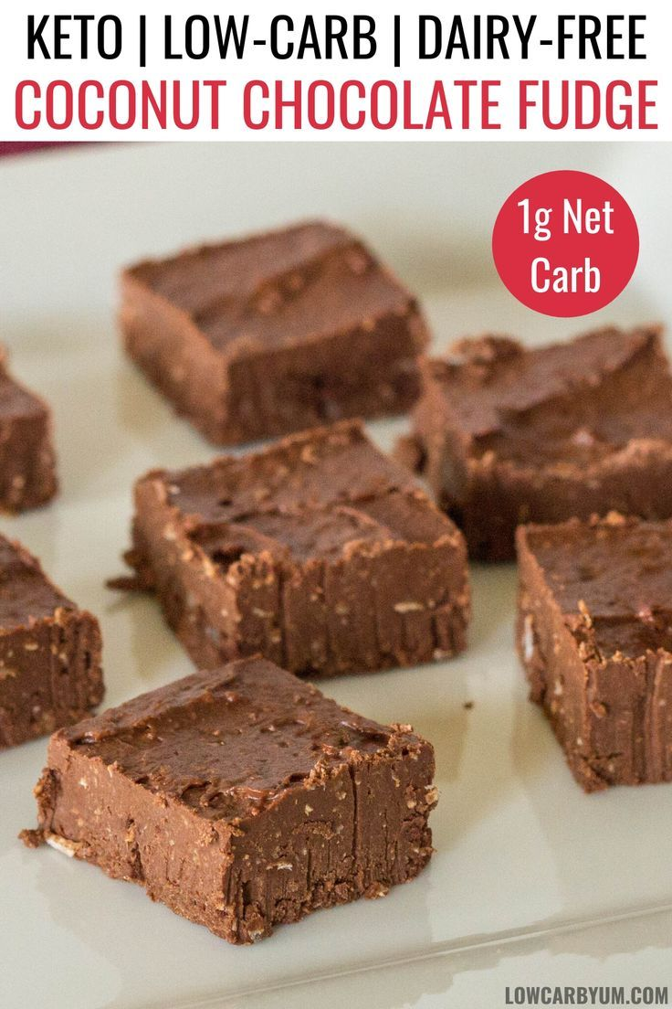 A dairy free fudge with coconut and chocolate its a keto