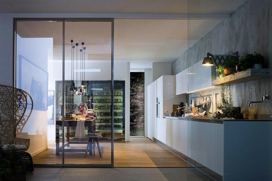 Afbeeldingsresultaat Voor Glazen Wand Tussen Keuken En Woonkamer Brilliant Minecraft Modern Kitchen Designs Inspiration