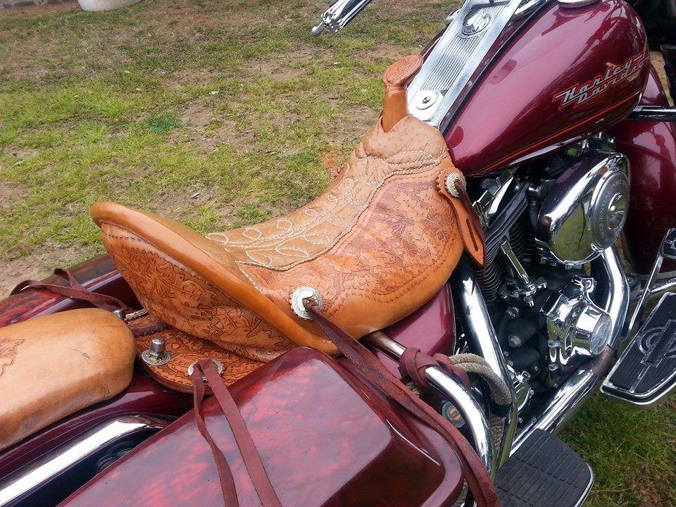 Western Saddle Bike Leathers Motorcycle Leather Bike Tank