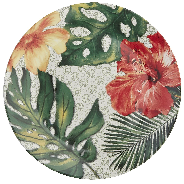 Multi-colored Hibiscus Salad Plate - Ironstone  sc 1 st  Pinterest & Multi-colored Hibiscus Salad Plate - Ironstone | *Dinnerware ...