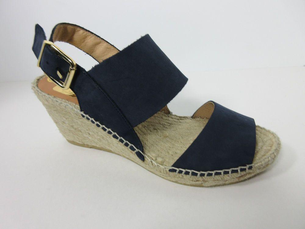 a082fecb3d3 KANNA Spain Womens Morbidone Navy Suede Wedge Platform Espadrilles Shoes  7.5 M  KANNA  PlatformsWedges  AnyOccasion